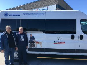 Dog Guides van donated by Lions Club