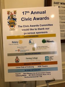 17th Annual Civic Awards in Cobourg